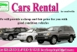 CARS RENTAL (Insurance Included)