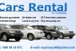 CARS RENTAL (Insurance Inclu